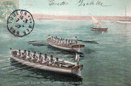 9537. CPA VAR 83 TOULON. LA VIE DE MARIN. DEPART DES CANOTS MAJORS 1907 - Toulon