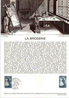 1980 DOCUMENT FDC LA BRODERIE - Documents De La Poste