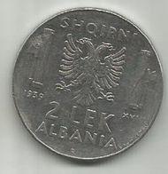 Albania 2 Lek 1939. - Albanie