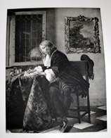 """Traumhafter Original Stich 1850 - 1890 """"DER KAVALIER"""", Von Gabriel Metsu, Verlag Von Rich.Bong Berlin W. - Stiche & Gravuren"""