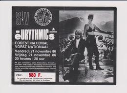 Concert EURYTHMICS 21 Novembre 1986 à Forest B - Tickets De Concerts