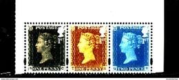 GREAT BRITAIN - 2015  ONE PENNY + 2 PENCE  STRIP EX PRESIGE BOOKLET  MINT NH - 1952-.... (Elisabetta II)
