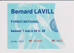 Concert Bernard LAVILLIER Le 7 Mai  à Forest B - Concert Tickets