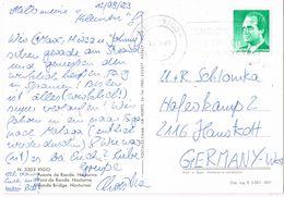 29751. Postal VIGO (POntevedra) 1989. Puente De Ronda De Vigo Nocturno - 1981-90 Cartas