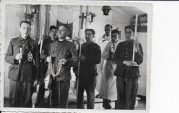 Photo Originale Stalag XIII A. Chapelle Notre Dame De Lagerville. Procession. - Guerre, Militaire