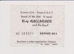 Concert Rozy GALLAGHER Stade E.S.C.T. Quessy 24 Mai 1986 - Tickets De Concerts