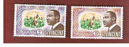 ST. VINCENT   -  SG 265.267  - 1968   MARTIN LUTHER KING    -   MINT** - St.Vincent (1979-...)