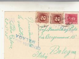 Malaga Per Bologna,Periodo Guerra Di Spagna Su Post Card . Censura Militare Malaga 27 -05 - 1938 - 1931-50 Storia Postale