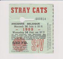 Concert STRAY CATS 14 Juin 1989 Ancienne Belgique. - Tickets De Concerts