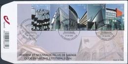 Belgie Belgique  2011 OCBn° FDC 4160-4164 (o) Oblitéré  Used Cote 16,50 Euro  Justitiepaleizen Palais De Justice - FDC
