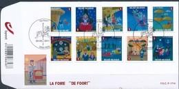 Belgie Belgique  2011 OCBn° FDC 4115-4124 (o) Oblitéré  Used Cote 17,00 Euro  La Foire De Foor - FDC