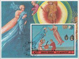 Umm Al Qiwain 1972 Dante Alighieri Divina Commedia Paradiso Canto XV Cacciaguida Sheet Imperf. CTO - Scrittori