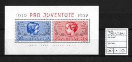 PRO JUVENTUTE → 1937 Block J38I / J39I ** - Pro Juventute