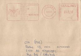 """Malawi 2003 Lilongwe 3 Meter Franking Hasler """"Mailmaster"""" AHS6 Tobacco Cover. Only One Known - Malawi (1964-...)"""