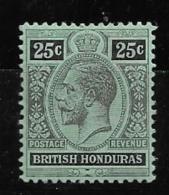 BRITISH HONDURAS   1913 -1917 Definitive Issue: King George V  Hinged - British Honduras (...-1970)