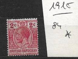 BRITISH HONDURAS   1915 -1916 As No. 66-69 With Violet Front Side Imprint Protection  Hinged - British Honduras (...-1970)