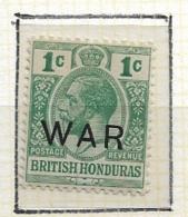 """BRITISH HONDURAS   1917 War Tax,  Overprinted """"WAR""""  Larger Hinged - Britisch-Honduras (...-1970)"""