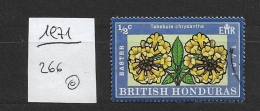 BRITISH HONDURAS    1971 Flowers  Tabebuia Chrysantha Tabebuia Chrysantha (araguaney Or Yellow Ipê), Known As Guayacan - British Honduras (...-1970)