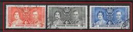 BRITISH HONDURAS    1937 Coronation Of King George VI And Queen Elizabeth USED YV 115/17 - British Honduras (...-1970)