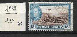 BRITISH HONDURAS    1938 -1947 King George V  And Life Wild Life Other Used   Sergeants Cay With Plane - British Honduras (...-1970)
