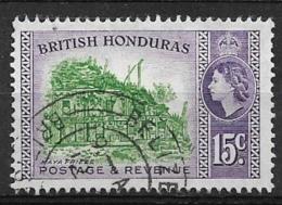BRITISH HONDURAS  1953 -1957 Country Images  Queen Elizabeth II  Mayan Frieze  Used - British Honduras (...-1970)