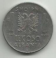 Albania 0.50  Lek 1940. - Albania