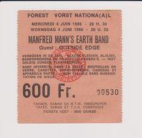 Concert MANFRED MANN'S EARTH BAND 4 Juin 1986 à Forest B - Concert Tickets
