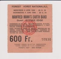 Concert MANFRED MANN'S EARTH BAND 4 Juin 1986 à Forest B - Tickets De Concerts