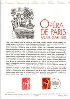 1998 DOCUMENT FDC PALAIS GARNIER OPERA DE PARIS - Documenten Van De Post