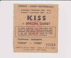 Concert KISS + SPECIAL GUEST 3 Novembre 1984 à Forest B - Concert Tickets