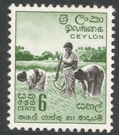 Ceylon. 1958-62 Definitives. Redrawn Inscriptions, 6c MH. SG 452 - Sri Lanka (Ceylon) (1948-...)
