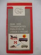 PORTUGAL : PLAN Et GUIDE Des TRANSPORTS PUBLICS De La REGION De LISBONNE - 1980 - Maps