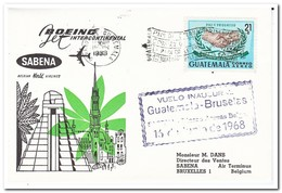 Guatemala 1968, Sabena Flight From Guatemala To Brussels - Guatemala