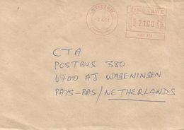 "Zimbabwe 2001 Causeway Meter Hasler ""Mailmaster"" HAS300 EMA Cover - Zimbabwe (1980-...)"