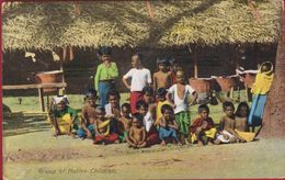 Sri Lanka Ceylon Group Of Native Children - Groupe D' Enfants Indigènes - Animée Old Postcard Asie  Asia Azie - Sri Lanka (Ceylon)