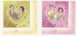 THAILAND 2010 MNH ROYAL WEDDING 60TH ANNIVERSARY UNUSUAL ODD SHAPE - Thailand