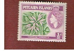 PITCAIRN   -  SG 33 - 1957 PLANTS: TI PLANT (CORDYLINE TERMINALIS) -   MINT** - Francobolli