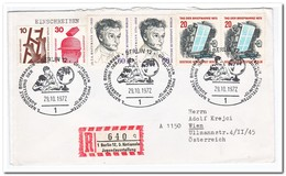 Berlin 1972, Registered Letter From Berlin To Vienna - [5] Berlijn