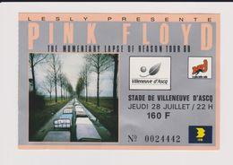Concert PINK FLOYD Villeneuve D'ascq 28 Juillet 1988 - Tickets De Concerts