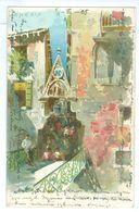 1905, Italy, Venice, Art View Pc. Printed Pc, Used, Mittweida Pmk. - Venezia (Venice)
