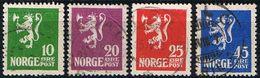1922: Norwegen MiNr. 105-108 Gest. (d414) / Norvège Y&T No. 97-100 Obl. - Gebraucht