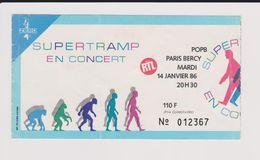 Concert SUPERTRAMP Paris Bercy 14 Janvier 1986 - Tickets De Concerts