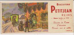Buvard -     Biscuiterie PETITJEAN à REIMS  -  Roulotte Et Dresseurs D'Ours - Buvards, Protège-cahiers Illustrés