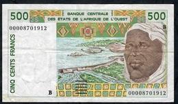 W.A.S BENIN P210Bm 500 FRANCS (20)00    VF NO P.h. ! - Benin