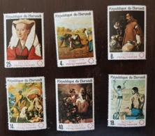 BURUNDI Tableaux,painting PICASSO, Yvert N°246/51 ** MNH Millet Rembrandt Velasquez, Picasso - Picasso