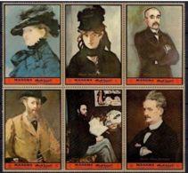 MANAMA Tableaux, IMPRESSIONNISTES, Painting Serie Complete ** MNH Manet (TIMBRES DETACHES) - Impressionisme