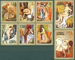 AJMAN Tableaux, IMPRESSIONNISTES, Painting Serie Complete ** MNH DEGAS, NUS - Impressionisme