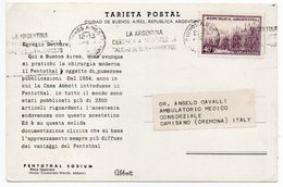 DEAR DOCTOR TYPE PUBL. PENTOTHAL SODIUM / ABBOTT - ARGENTINA - BUENOS AIRES VIEWS - Argentine