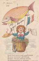 Fétes : POISSON D'AVRIL : ( Poisson-montgolfière ) Illust. à Définir - 1 De April (pescado De Abril)