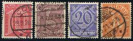 1920: Dt.Reich Dienst MiNr. 24 - 27 Gest. (d441) / Allemagne Empire Service Y&T No. S17, S19 - S21 Obl. - Service